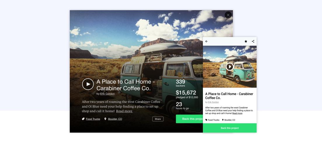 Kickstarter Finally Comes to Android