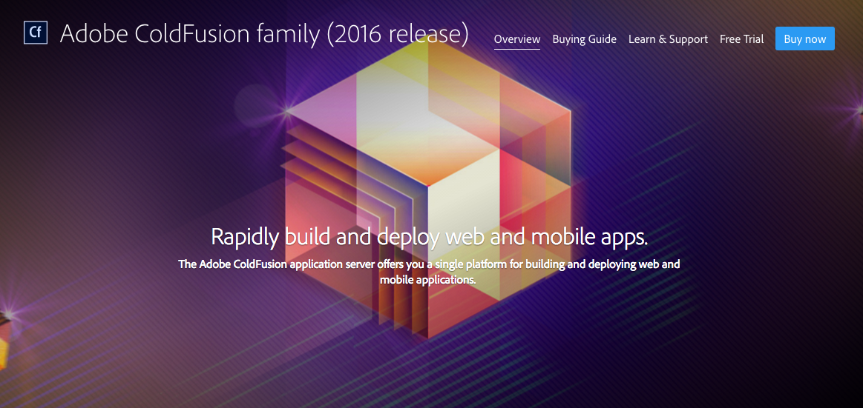 Adobe Launches ColdFusion 2016