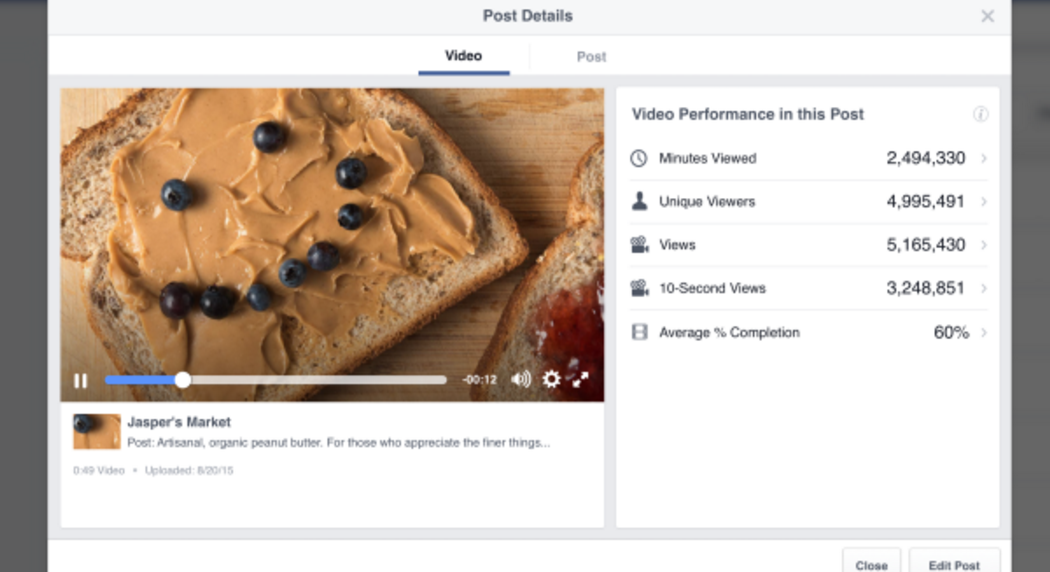 How Facebook Just Improved Video Performance Tracking