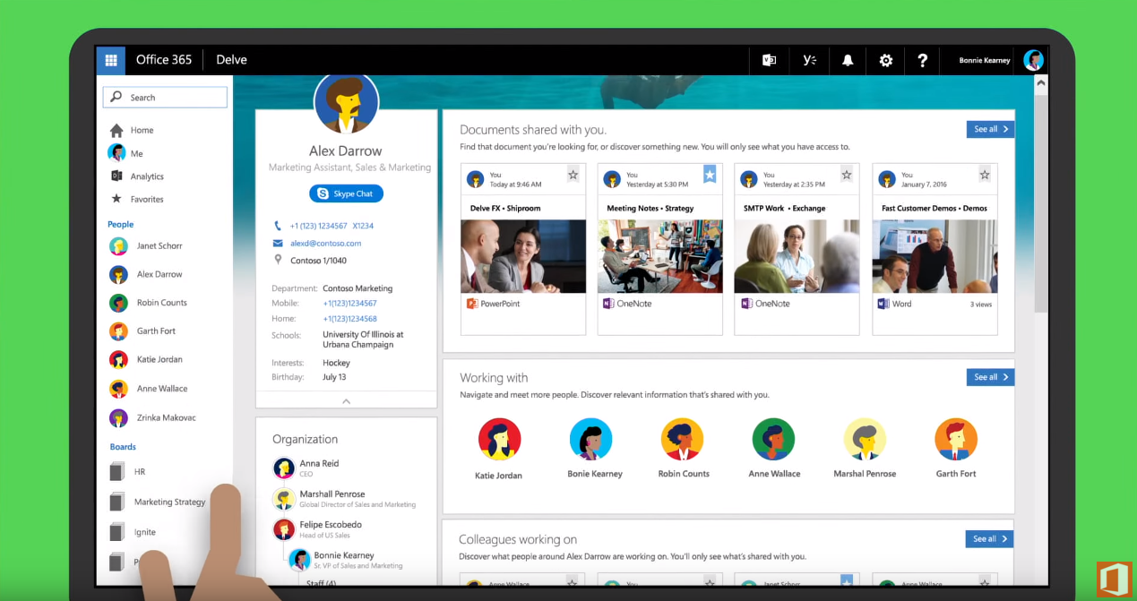 Microsoft Unveils Updated Profile Experience For Delve in Office 365