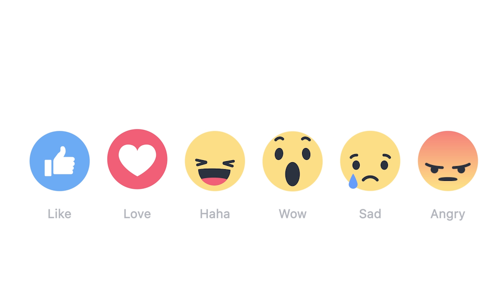 Facebook Finally Makes 'Reactions' Like Button Extension Available Globally