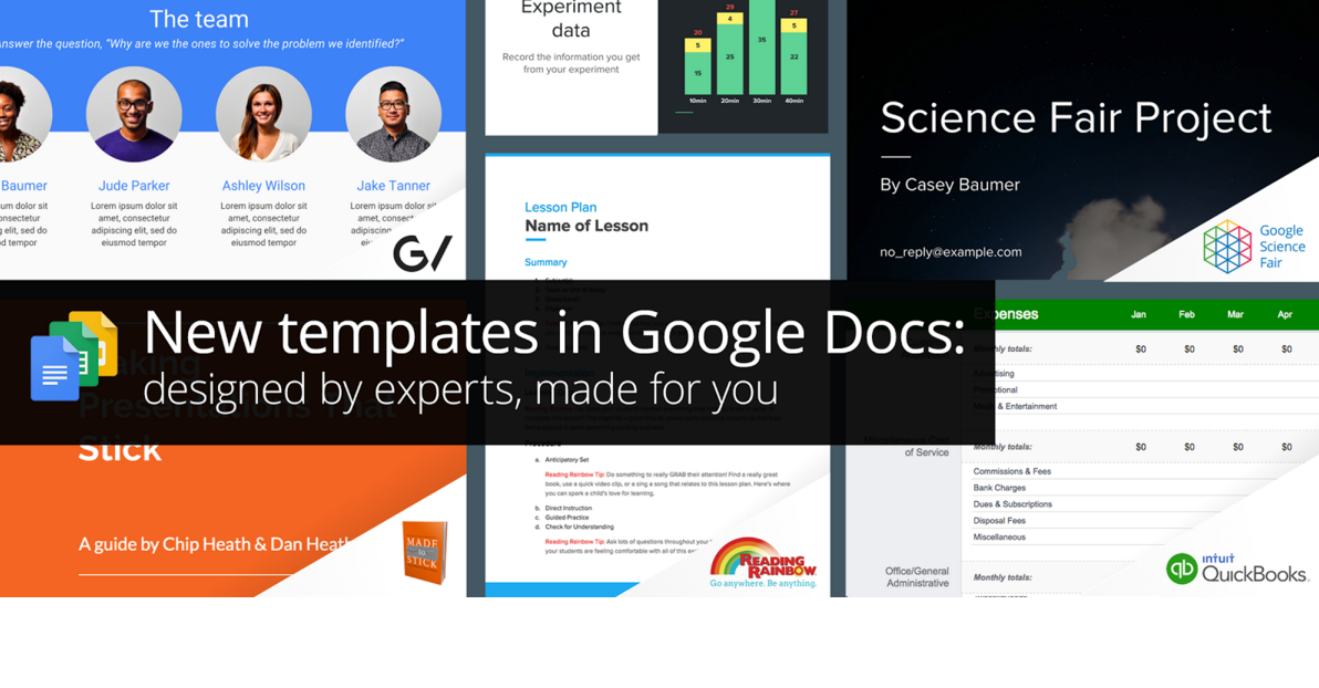 Google Sheets Slides Get New Business Templates - Google sheets business templates