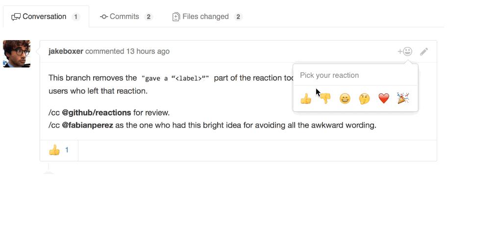 GitHub Adds Reactions