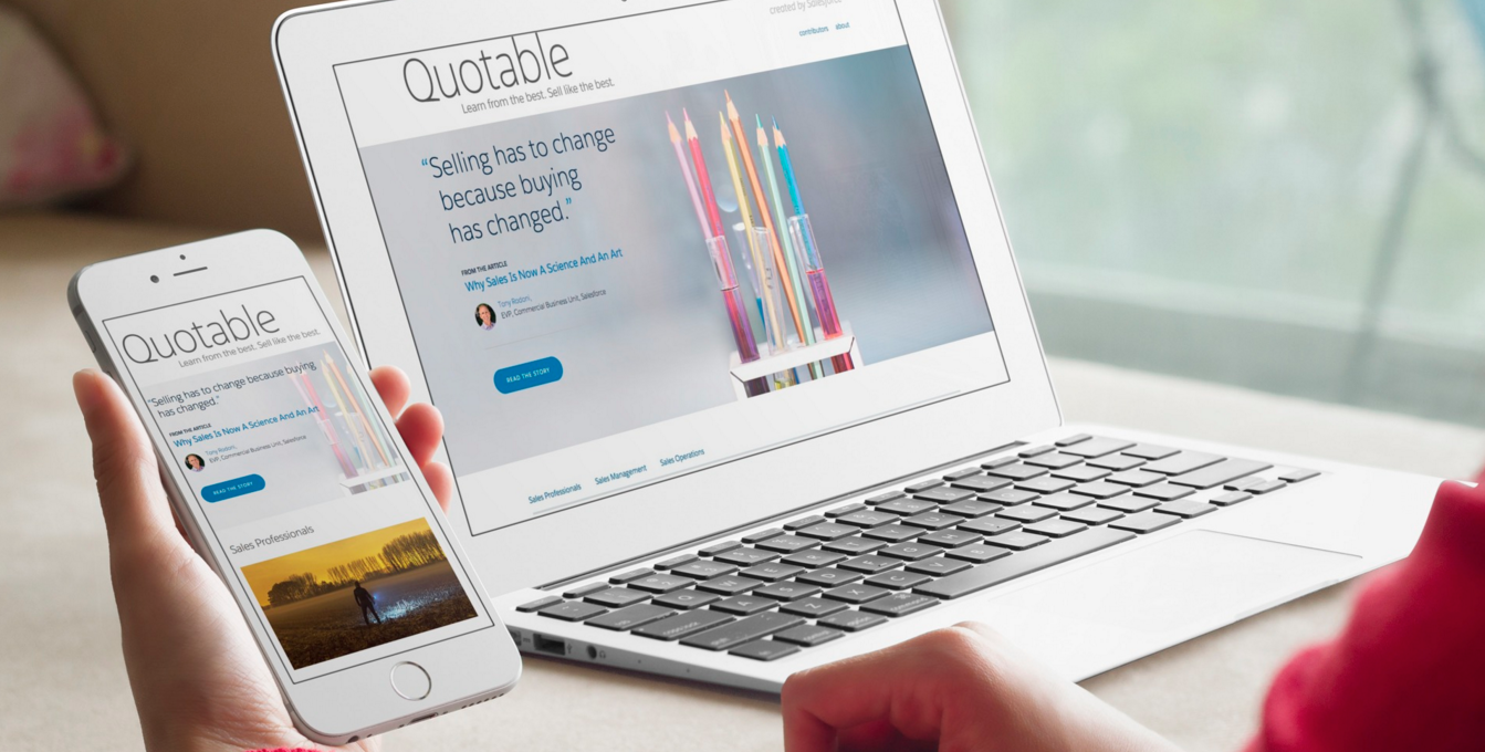 Salesforce Launches Quotable Content Site For Salespeople