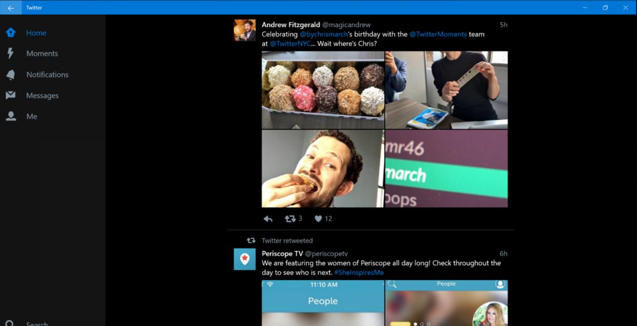 Twitter for Windows 10 Goes Mobile