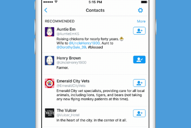 Twitter Adds An Intelligent Connect Tab