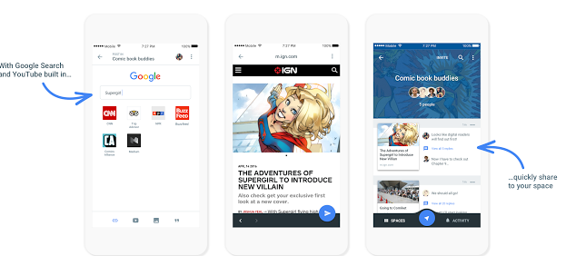 """Google Launches New App Called """"Spaces"""" To Improve Sharing"""