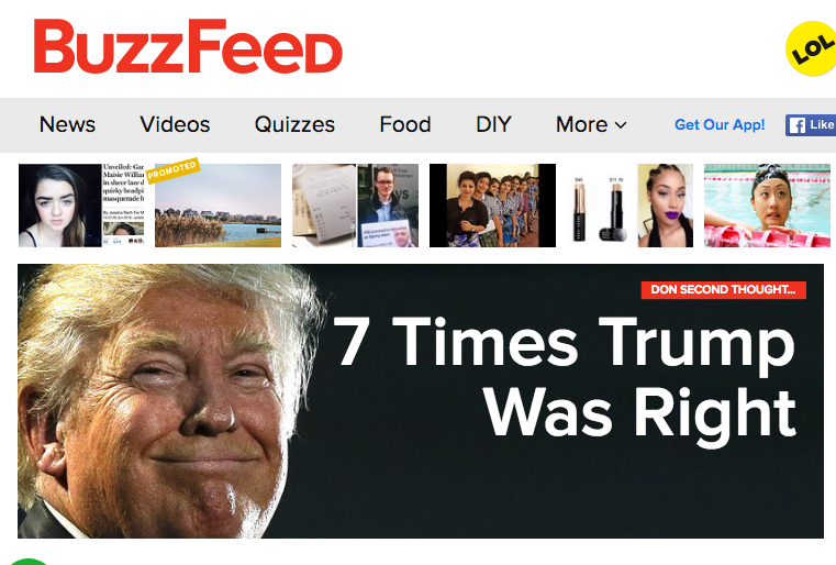 Buzzfeed Chooses Sides, Backs Out Of RNC Ad Deal For Trump