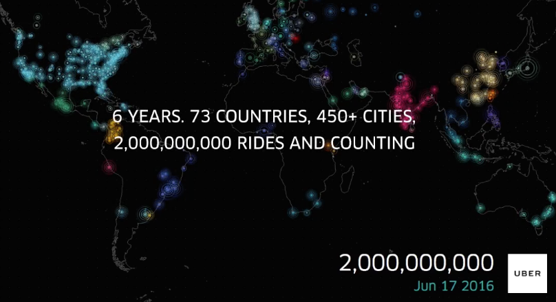 Uber Hits 2 Billion Rides Milestone