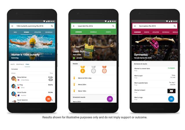 Be at the 2016 Rio Olympics via Google