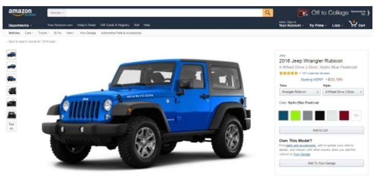 Amazon's New Car Hub: Amazon Vehicles