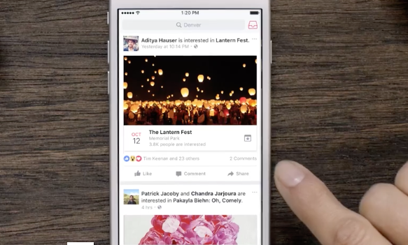 Facebook Launches a Simple Event App
