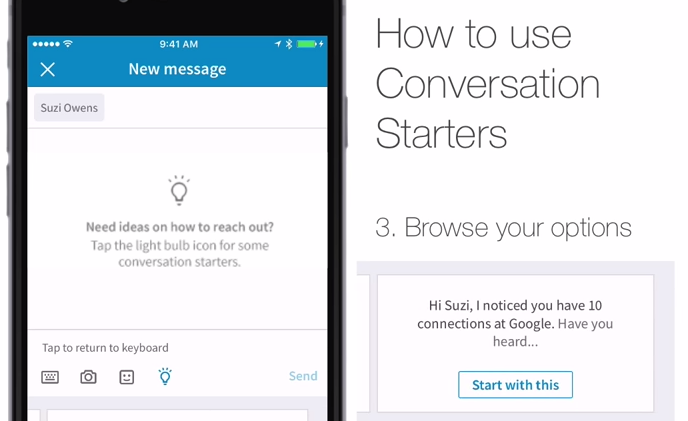 LinkedIn Makes Spamming Contacts Easy With Conversation Starters... Fun!
