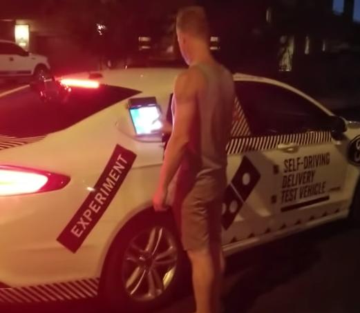 Domino's CEO Talks Tech - Watch Autonomous Car Deliver Pizza