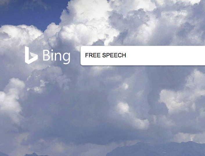 What if Bing Became the Free Speech Search Engine?