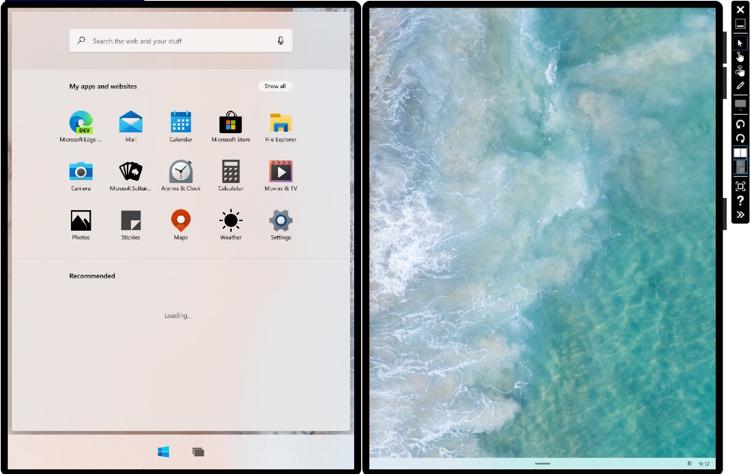 Image Source: Microsoft - Microsoft Emulator showing Windows 10X