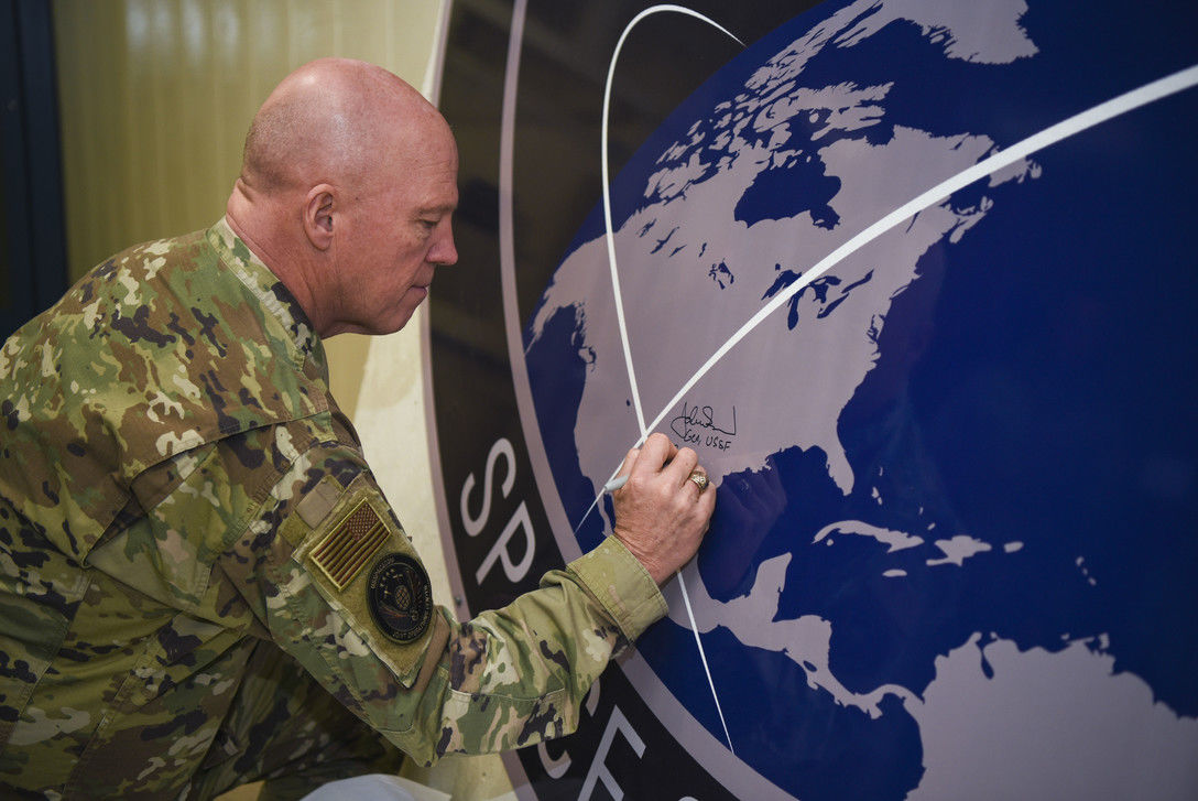 New Space Force Leader Visits Crew at Cavalier Air Station