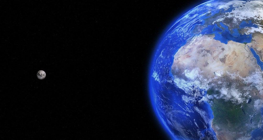 Earth and Moon - Image by Arek Socha
