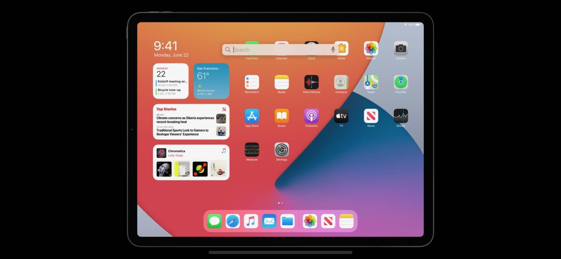 iPadOS Widgets