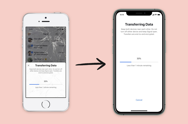 iOS Transfer - Image Credit: Signal