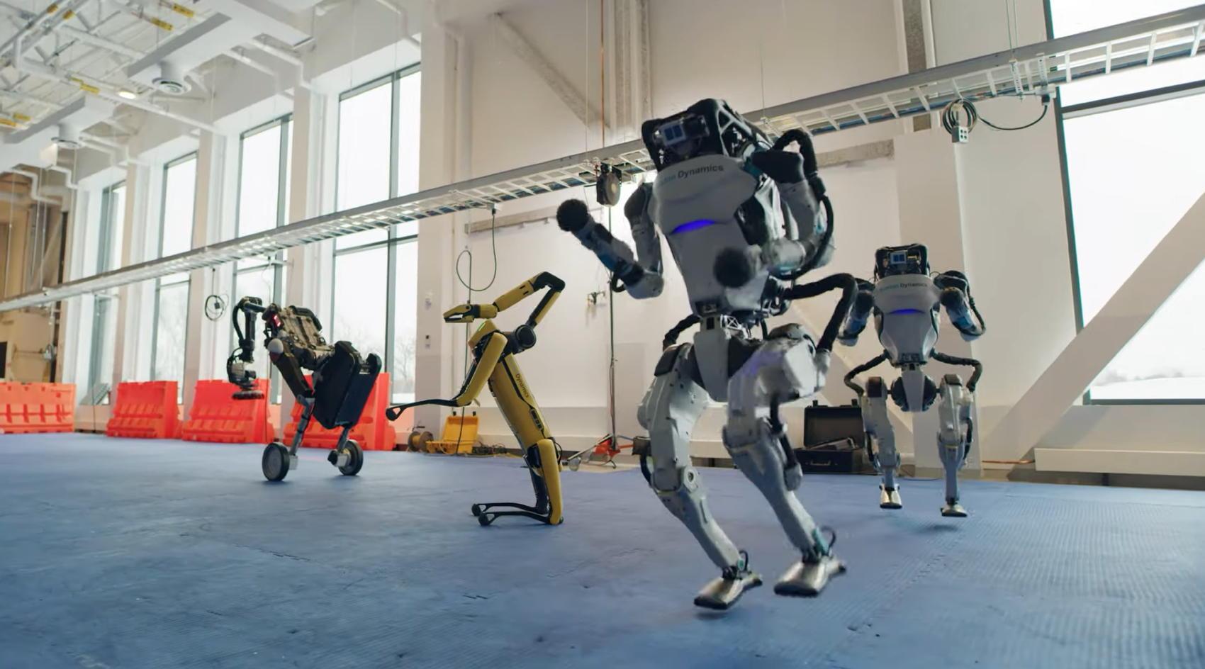 Boston Robotics Dancing Robots