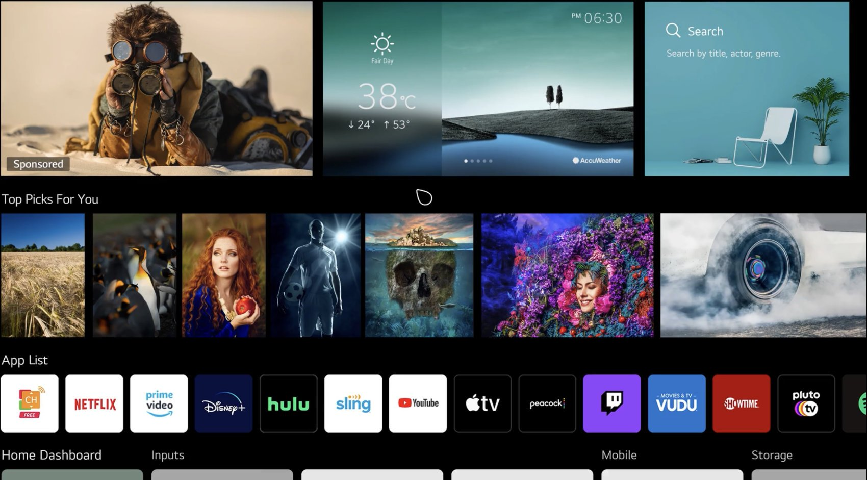 LG webOS Interface