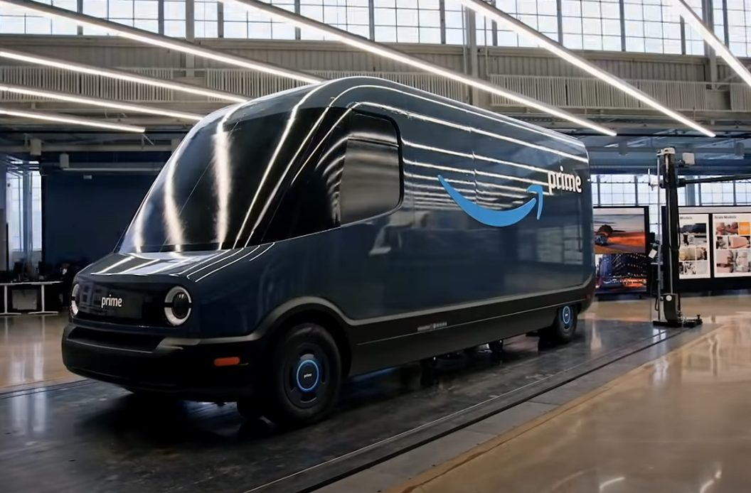 Video: Amazon's New Electric Vans Quietly Delivering