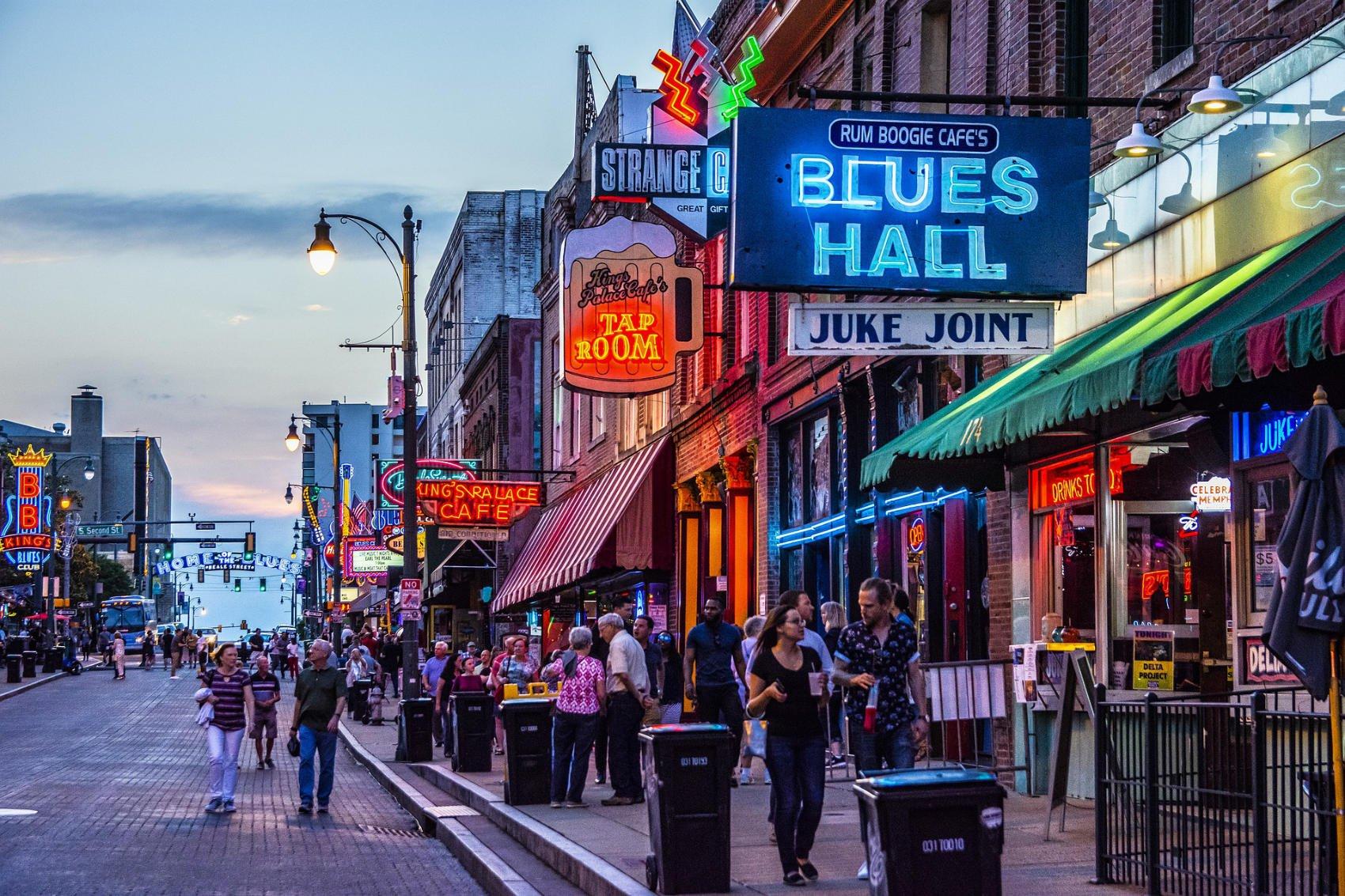 Beale Street Memphis - Image by Bruce Emmerling