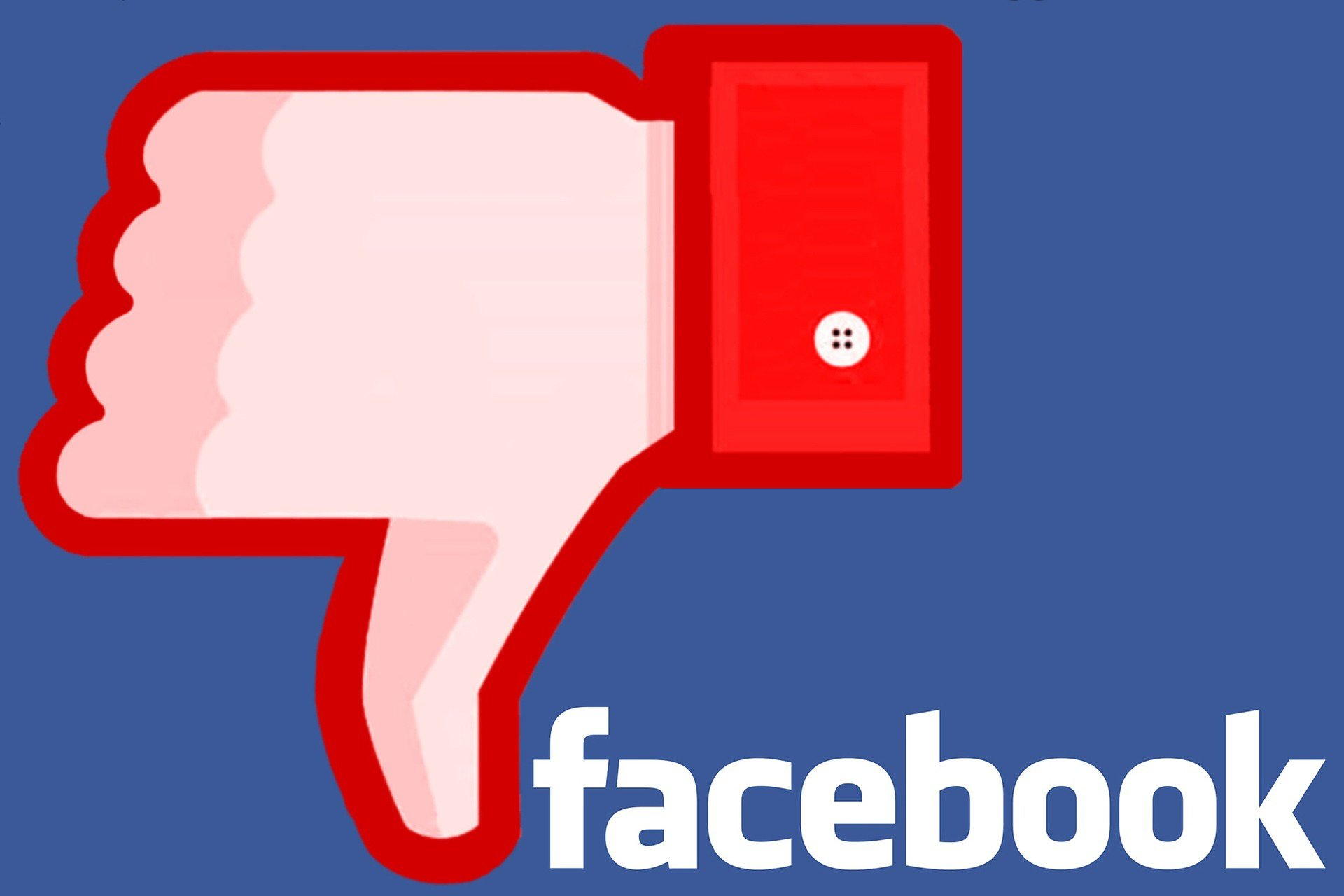 Facebook Thumbs Down - Image by Hermann Traub