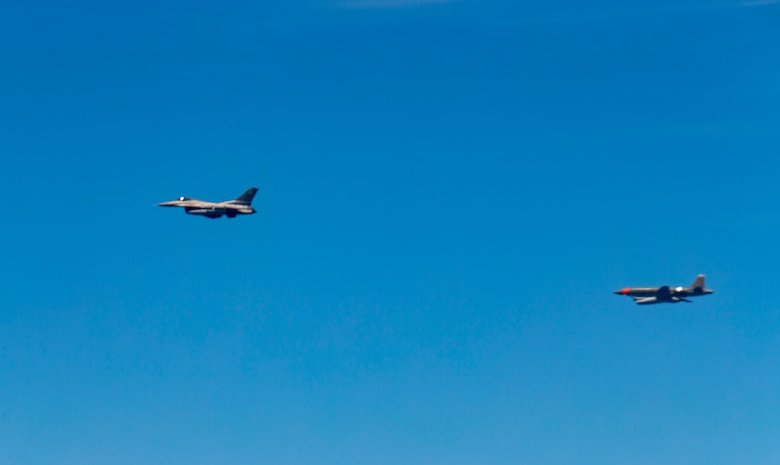 Skyborg UTAP-22 Following F-16 - Credit Air Force
