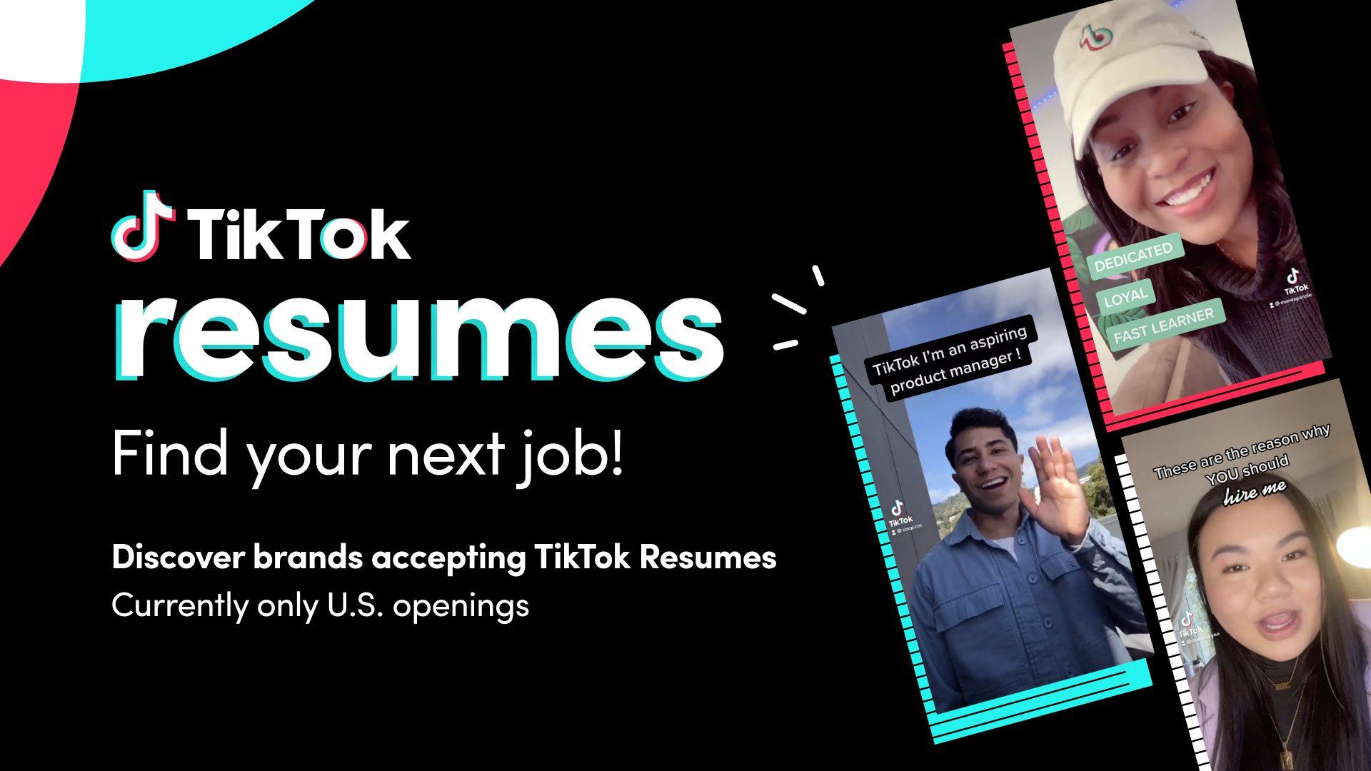 TikTok Resumes - Credit TikTok