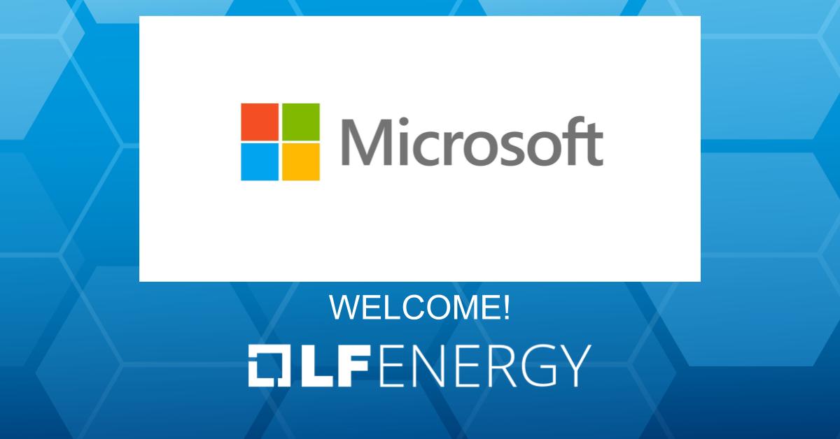 Microsoft and LF Energy - Credit LF Energy