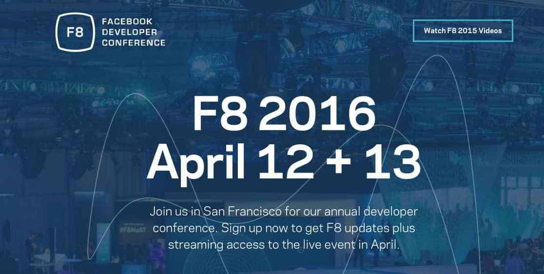 Facebook F8 2016 Conference Is Open For Registration