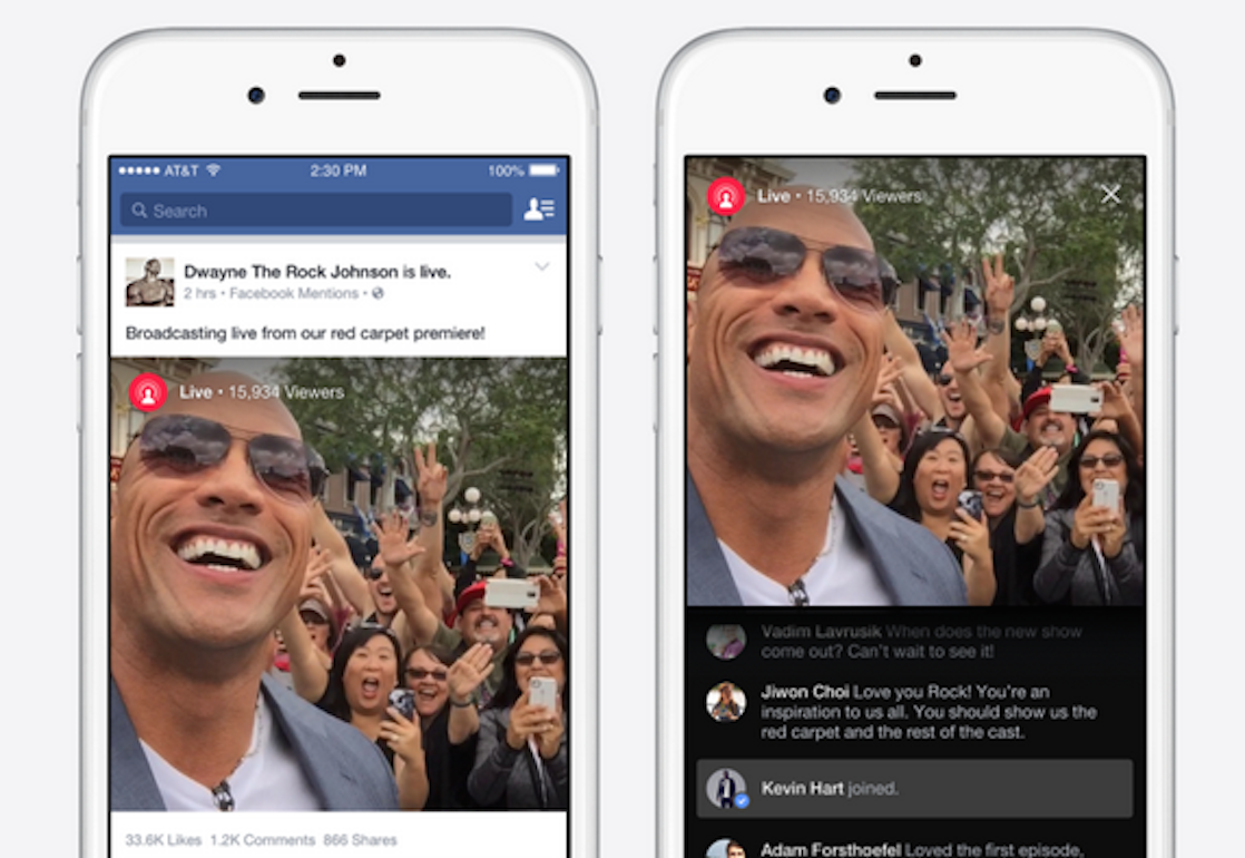 Facebook Now Lets Celebrities (Not You) Livestream