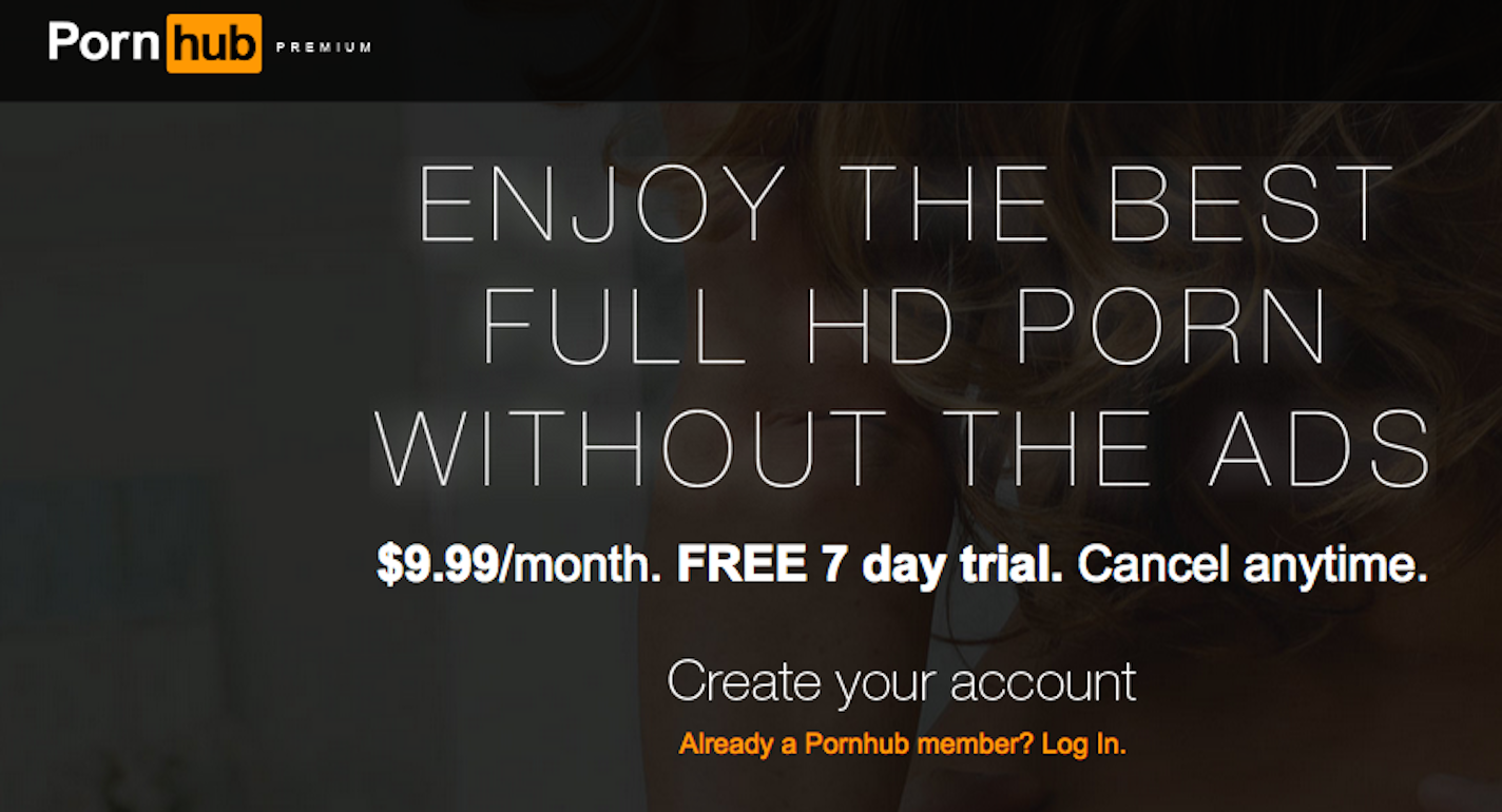 PornHub Is Trying to Get You to Pay for Porn