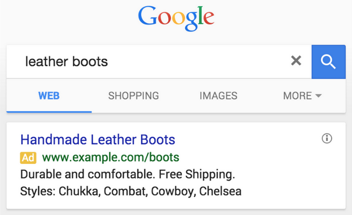 Google Launches Structured Snippet Extensions For AdWords
