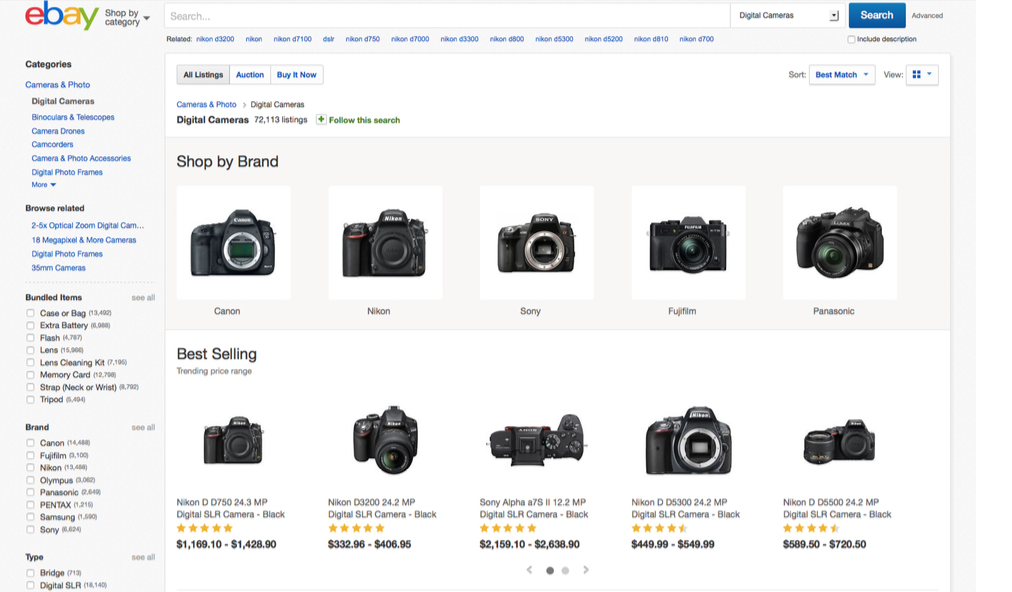 eBay Uses Structured Data For New Browsing Experiences