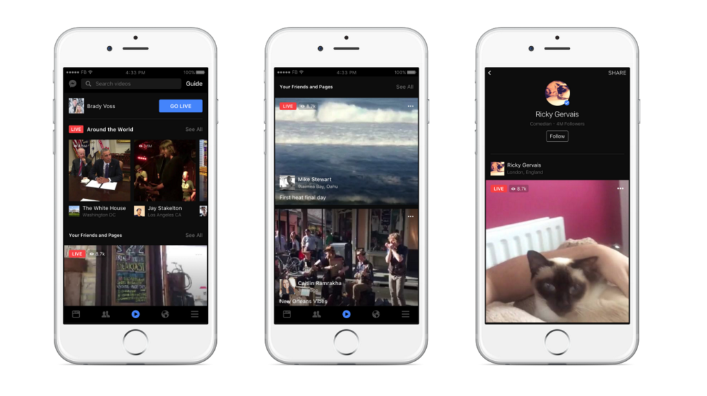 Facebook Announces A Bunch of Live Video Features