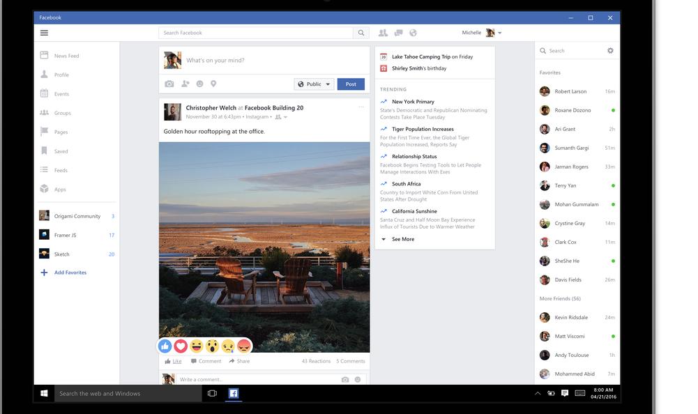 Facebook, Messenger & Instagram Get Windows 10 Apps
