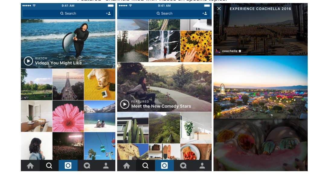 Instagram Adds Video Channels To Explore